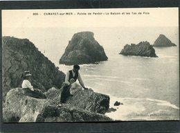 CPA - CAMARET - Pointe De Penhir - Le Balcon Et Les Tas De Pois, Animé - Camaret-sur-Mer