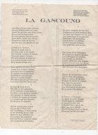 """Fleurance (32 Gers) Texte D'un Poème (chanson?) En Gascon   """"LA GASCOUNO""""   (PPP21374) - Unclassified"""