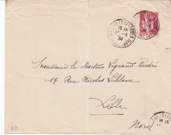 Enveloppe Paix 50 C Rouge B7 Oblitérée - Postal Stamped Stationery