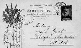 """CP-  """" Joffre """"- 3 Drapeaux- - Marcophilie (Lettres)"""