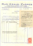 JUDAICA ZAGREB RUDI KRAUS YEAR 1935 - Andere