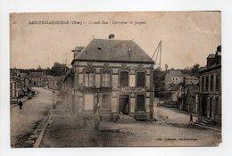 - CPA SAINTE-GAUBURGE (61) - Grande-Rue - Carrefour St-Jacques 1927 - Edition Dufresne - - Francia