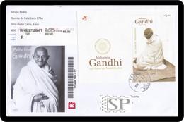 Portugal 2019 Cover 150 Anos Mahatma Gandhi Timbre Khadi, Le Tissu Fabriqué à La Main Fibres Natural L'histoire - Mahatma Gandhi