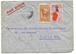 Madagascar Lettre Avion 1937  Airmail Cover - Madagascar (1889-1960)