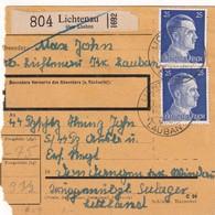 ALLEMAGNE 1943 COLIS POSTAL DE LICHTENAU - Allemagne