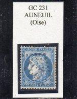Oise - N° 60C Obl GC 231 Auneuil - 1871-1875 Cérès