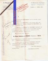 Document Du 22/05/1944 FRAUDREAU Huileries - Tours 37 - France