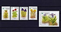 Tadschikistan 1998 - Michel 124-127 + Bl.12 MNH - Pflanzen Und Botanik