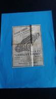Ancienne Petite Publicité De Presse Automobile Lambert Giromagny Belfort Année 30 - Advertising