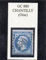 Oise - N° 22 Obl GC 880 Chantilly - 1862 Napoléon III