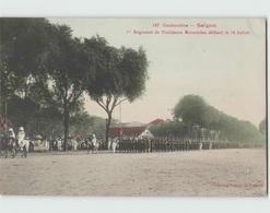 Cochinchine SAÏGON ... 1er Régiment De Tirailleurs Annamites Défilant Le 14 Juillet (Poujade De Ladevèze 187) 1913 - Vietnam