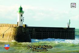 Set 6 Cartes Postales, Phares, Lighthouses Of Europe, France, Flamanville, Le Phare De Diélette - Vuurtorens