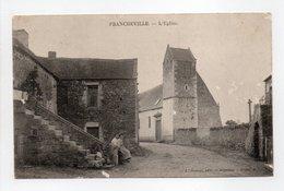 - CPA FRANCHEVILLE (61) - L'Eglise (avec Personnages) - Edition E. Roussel - - France