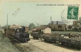 140120 - 17 SAINT CIERS DU TAILLON - Arrivée D'un Train - Gare Chemin De Fer Wagon De Marchandise - France