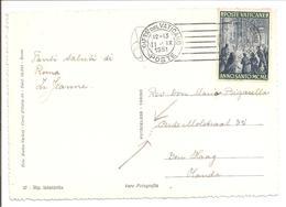 1951 Postal History Vaticane.Anno Santo 1949 10L + TRANSORMA VD - Vatikan