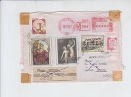 RECOMMANDE DE VARALLO VERS DONECK - URSS - OUVERT A LA DOUANE - 1981 - 6. 1946-.. Repubblica