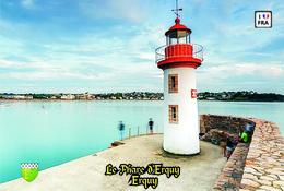 Set 6 Cartes Postales, Phares, Lighthouses Of Europe, France, Erquy, Le Phare Du Port D'Erquy - Leuchttürme