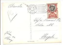 1955 Postal History Vaticane.Pontefici 1953 12L S.Silvester +TRANSORMA AD. CP Piazza Di Spagna - Vatikan
