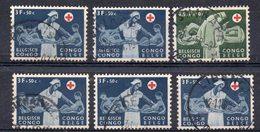 CONGO - Lot Belles Oblitération Sur Série Croix Rouge 1957 - PAULIS TSHIKAPA BOENDE COQ LIBENGE - KX4 - Congo Belge