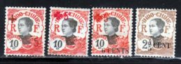 Indochine 1919 Yvert 65 - 67 - 70 - 73 * TB Charniere(s) - Ungebraucht