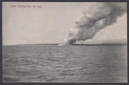 CPA Samoa - Lava Running Into The Sea. - Samoa