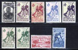 AOF 1947 Yvert 2-11-16-17-19-20-22-27-36 (o) B Oblitere(s) - Usati