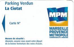 CARTE DE STATIONNEMENT BANDE MAGNÉTIQUE LA CIOTAT 13 BOUCHES DU RHONE PARKING VERDUN - Francia
