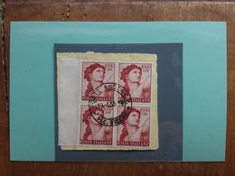 REPUBBLICA 1961 - Michelangiolesca - 1000 Lire In Quartina - Timbrati + Spese Postali - 6. 1946-.. Republic