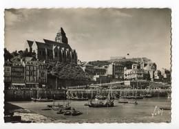CPM 76 (grand Format)  LE TREPORT Port Et  Eglise  ( Bateaux ) - Le Treport