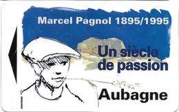 CARTE DE STATIONNEMENT BANDE MAGNÉTIQUE AUBAGNE 13 BOUCHES DU RHONE  MARCEL PAGNOL 1895 / 1995 UN SIÈCLE DE PASSION - Francia