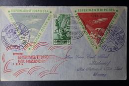 ITALY Cover ESPERIMENTI DI POSTA PER RAZZO ESPRESSO  1934  Trieste  Sa 369 Mi 497  Rocketmail - 1900-44 Victor Emmanuel III