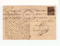 Sur CPA De La Bérarde Pour Beaurepaire  CAD Grenoble Gare 1932 Timbre Expo Coloniale Publicités Gitanes Cigares. (3513) - Annullamenti Meccanici (pubblicitari)
