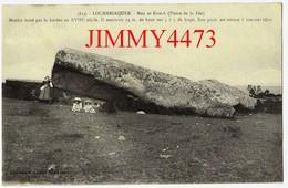 CPA - LOCMARIAQUER 56 Morbihan - Men Er Kroeck Pierre De La Fée Menhir Brisé Par La Foudre Au XVIIIè - N°3819 H. Laurent - Dolmen & Menhirs