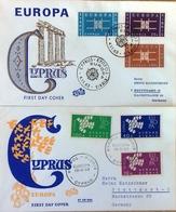 Chypre FDC Europa 1961 - 1963. - Zypern (Republik)