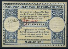 MADAGASCAR Lo15 40 / 30 / 15 FRANCS CFA International Reply Coupon Reponse IAS IRC Antwortschein O TANANARIVE R.P. - Madagascar (1889-1960)
