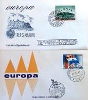 San-Marin FDC Europa 1961 - 1963. - FDC