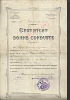 MILITARIA CERTIFICAT DE BONNE CONDUITE LE CHEF DE BATAILLON GYMARD ? 45e Bat DU GENIE DE SAPEUR PARIS A HUSSEIN DEY  : - Documents