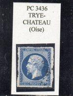 Oise - N° 14A Obl PC 3436 Trye-Château - 1853-1860 Napoléon III