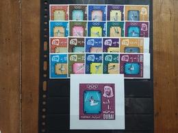 EMIRATI ARABI - DUBAI - Olimpiadi Tokio 1964 - Serie Dentellata + Non Dentellata + Foglietto - Nuovi ** + Spese Postali - Dubai
