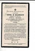 DP 9906 - TEOPHIEP DE MEULEMEESTER - GEENENS - ELSEGEM 1901 + HUYSSE 1928 - Devotion Images