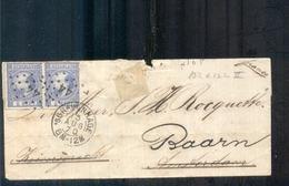 Baarn - Den Haag - Kleinrond 13 AUG 70 - Paartje Willem III - Postal History