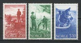 NORVEGE 1984   N° 855/857 ** Neufs MNH Superbes C 4.75 € La Pêche Sportive Saumon Poissons Fishes Fishing Bateau Boats - Unused Stamps
