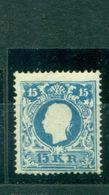 Österreich, Kaiser Franz-Joseph Nr. 15 I A Neugummi Befund Prüfstelle Basel - 1850-1918 Impero