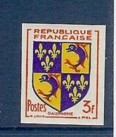 N° 954 DAUPHINE NON DENTELE ** - Imperforates