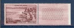 N° 1193 EVIAN BORD DE FEUILLE AVEC SUPERBE VARIETE D'ESSUYAGE ** - Variétés: 1950-59 Neufs