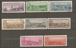 RUSSIE -  Yv N°  2121,2122,2126,2128 à 2131, 2135   (o)  Capitales Soviétiques  Cote  3  Euro  BE - 1923-1991 UdSSR