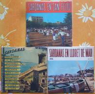 ESPAGNE CATALOGNE DANSE FOLKLORE - SARDANAS - Trois 45 Tours - Vinyl-Schallplatten