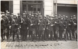 Lile 1930 Peloton De La Garde Mobile N°78 Devanture Magasin  Carte Photo Bière Bonbons - Lille
