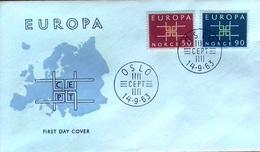 Norvège, FDC Europa, 1963 - FDC