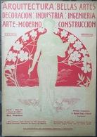 Revue D'architecture Art Nouveau Moderne Madrid Barcelona Espagne - Livres, BD, Revues